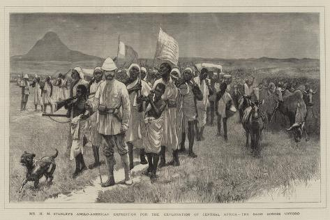 Mr H M Stanley's Anglo-American Expedition for the Exploration of Central Africa Reproduction procédé giclée