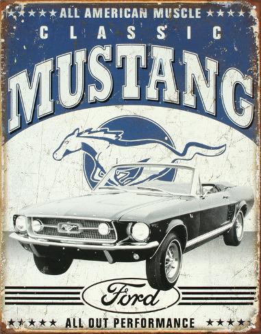 Mustang classique Plaque en métal