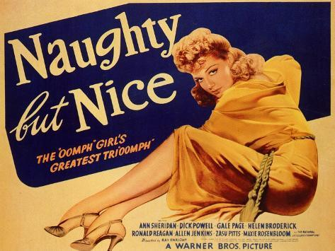 Naughty but Nice, 1939 Reproduction d'art