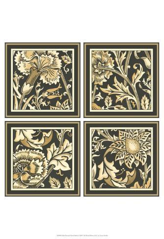 Neutral Floral Motif Reproduction d'art