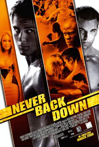 Never Back Down Affiche double face