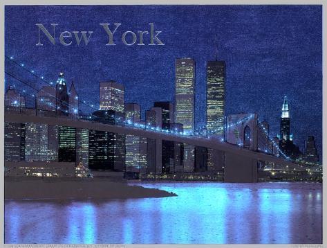 New York - Brooklyn Bridge Reproduction d'art
