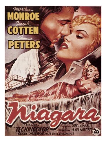 Niagara, Marilyn Monroe, 1953 Photographie