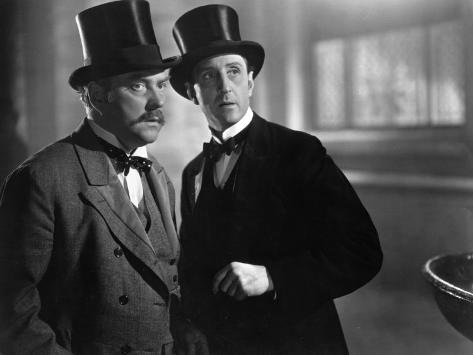 Nigel Bruce et Basil Rathbone : Le Chien des Baskerville, 1939 Reproduction photographique