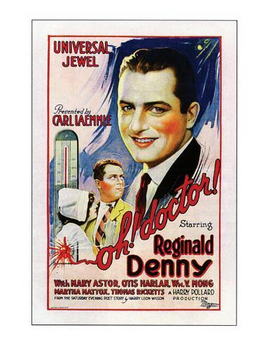 Oh, Doctor! - 1925 Reproduction procédé giclée
