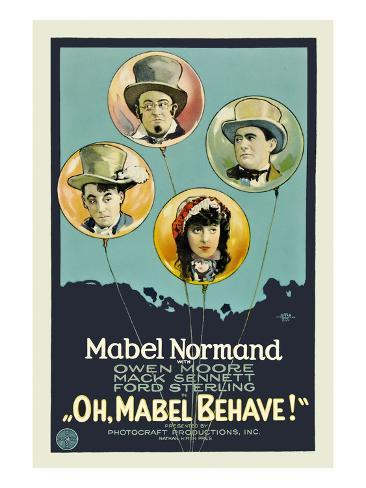 Oh, Mabel Behave! Reproduction d'art