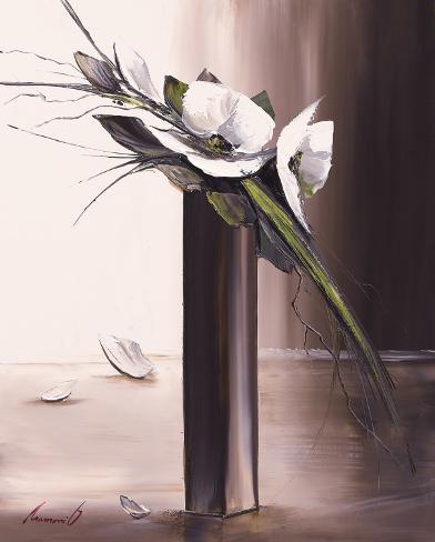 Bouquet Blanc II Reproduction d'art