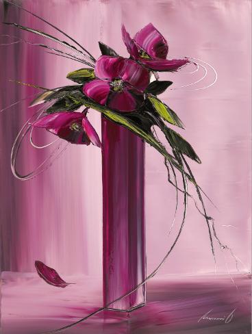 Bouquet Violet I Reproduction d'art