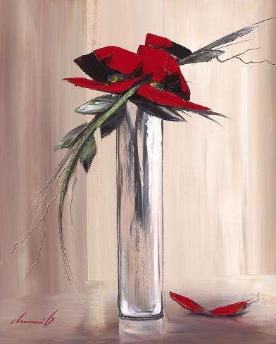 Les Fleurs Rouges I Reproduction d'art
