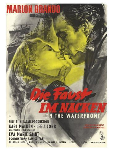 On the Waterfront, German Movie Poster, 1954 Reproduction d'art