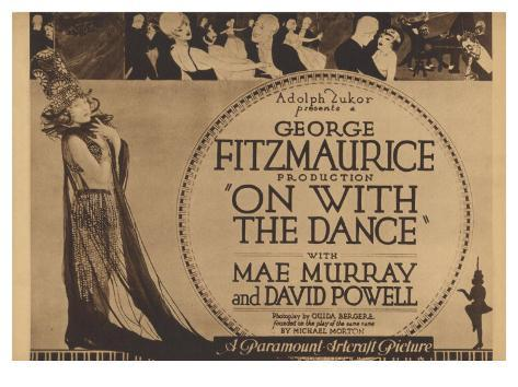 On With the Dance, 1920 Reproduction d'art