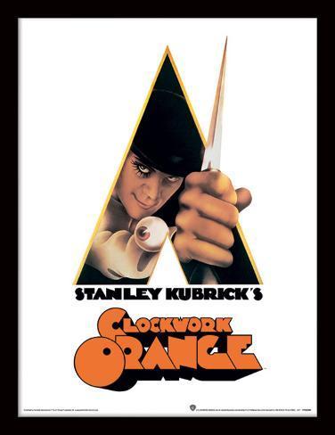 Orange Électrique - la canne-épée Reproduction encadrée pour collectionneurs