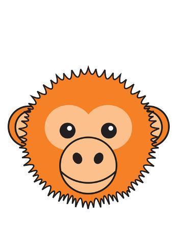 Orangutang Reproduction d'art