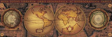 Orbis Geographica II Toile tendue sur châssis