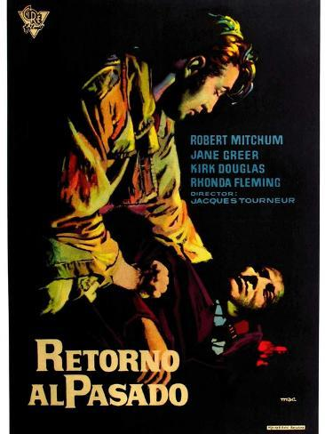 Out of the Past, Spanish Movie Poster, 1947 Reproduction d'art