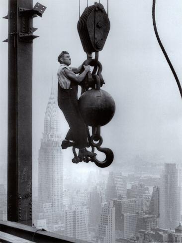 Ouvrier sur l'Empire State Building Reproduction d'art