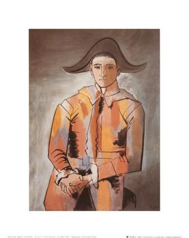 Arlequin les mainscroisees, 1923 Reproduction d'art