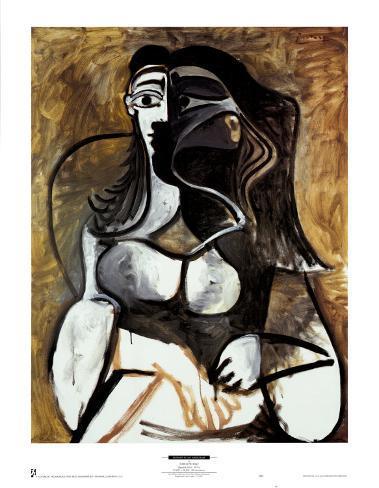 Femme dans un fauteuil Reproduction d'art