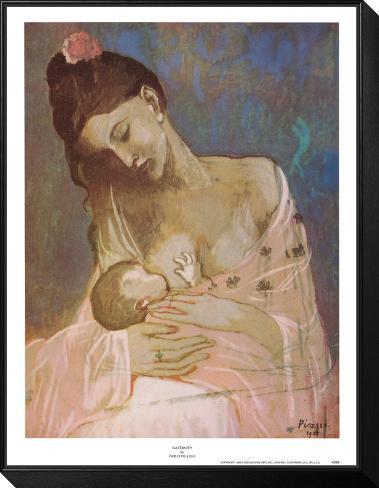 Maternité Reproduction montée et encadrée par Pablo Picasso sur ...