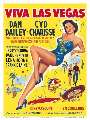 Viva Las Vegas (Meet Me in Las Vegas) - starring Dan Dailey, Cyd Charisse Reproduction d'art