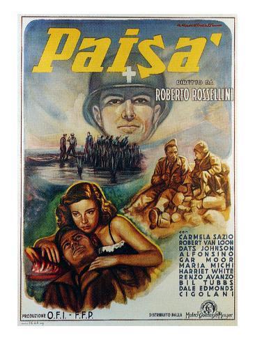 Paisan, Maria Michi, Robert Van Loon, Dots Johnson, 1946 Photographie