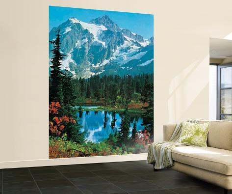 papier peint sommet de montagne papier peint sur. Black Bedroom Furniture Sets. Home Design Ideas