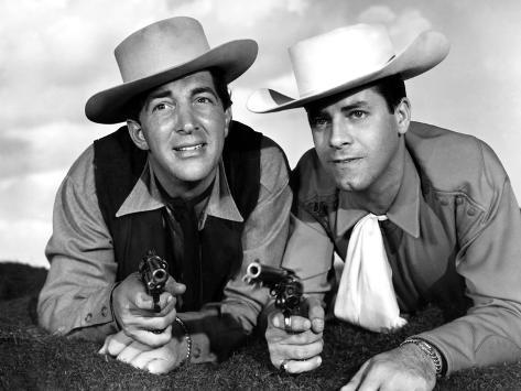 Pardners, Dean Martin And Jerry Lewis, 1956 Photographie