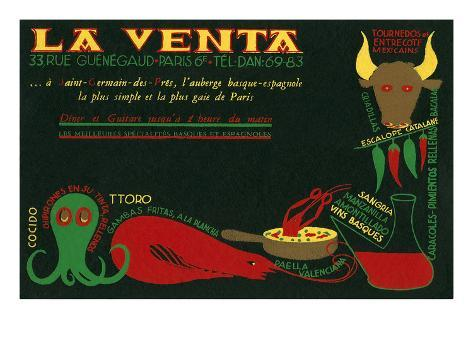 Paris Delicatessen for Spanish Food Reproduction d'art