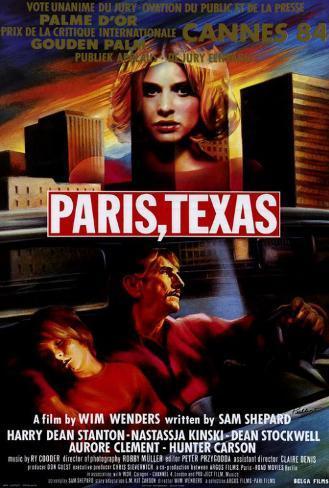Paris, Texas - Belgian Style Poster