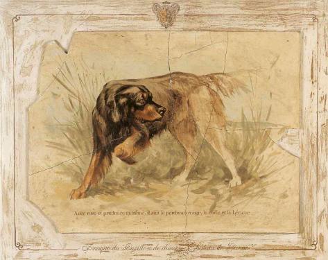 Fresque du pavillon de chasseI Reproduction d'art