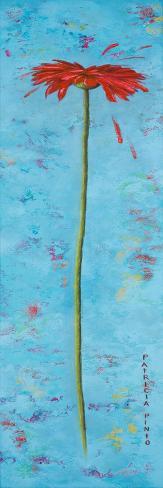 Blue Tiny Flower II Reproduction d'art