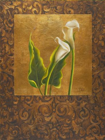 Calla Lily with Arabesque II Reproduction d'art