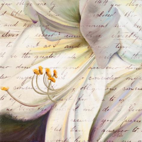 Lily Script I Reproduction giclée Premium