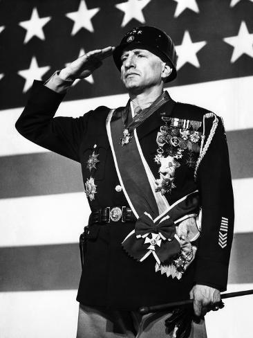 Patton, George C. Scott, 1970 Photographie