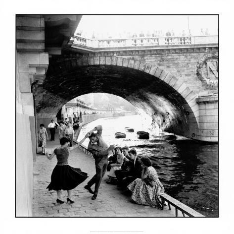 Rock 'n Roll sur les quais de Paris Reproduction d'art