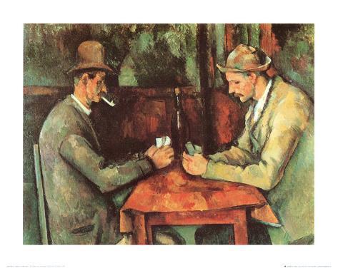 Les joueurs de cartes, 1885-90 Reproduction d'art