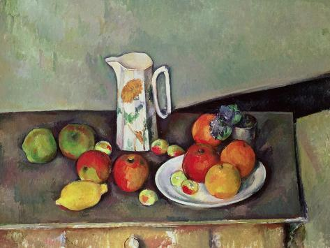 Nature morte - Pot à lait et fruits, vers 1886-90 Reproduction procédé giclée