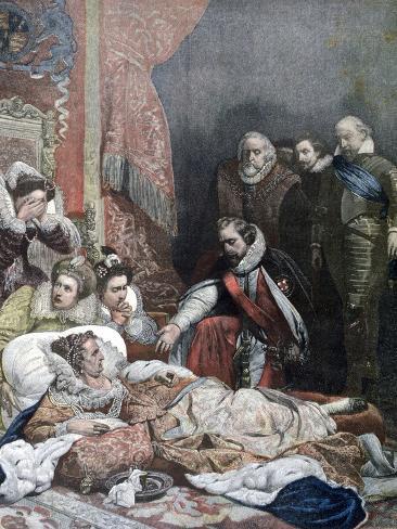 Death of Queen Elizabeth, 1892 Reproduction procédé giclée