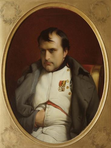 Delaroche, Napoleon after His Farewell Speech at Fontainebleau Reproduction procédé giclée