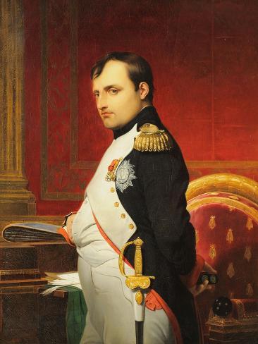 Delaroche, Portrait de l'empereur Napol? 1er dans son cabinet Reproduction procédé giclée