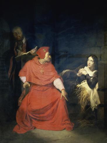 Jeanne D'Arc et le Cardinal de Winchester Reproduction procédé giclée