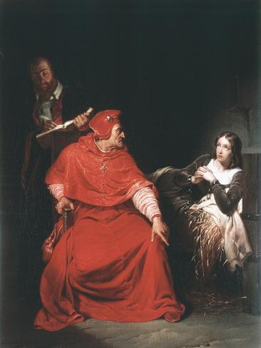 Joan of Arc in Prison, 1825 Reproduction procédé giclée