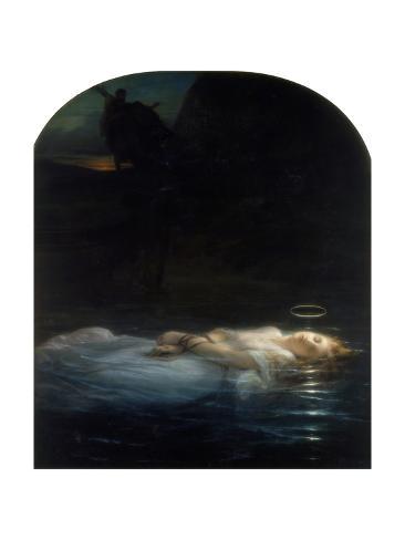 La jeune Martyre (1855) Reproduction procédé giclée