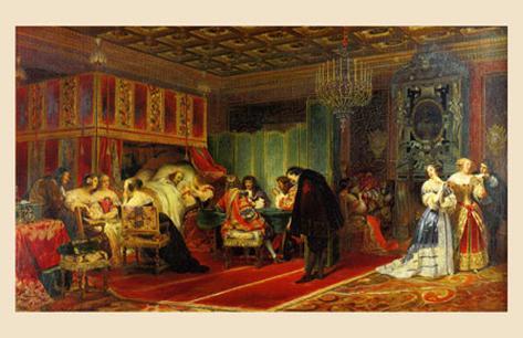 Le Cardinal Mazarin Mourant, 1830 Reproduction d'art