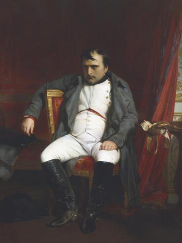 Napoleon at Fontainebleau During the First Abdication - April 1814 Reproduction procédé giclée