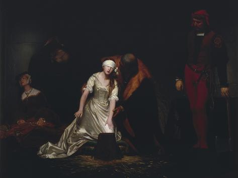 The Execution of Lady Jane Grey, 1834 Reproduction procédé giclée