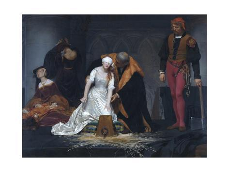 The Execution of Lady Jane Grey in the Tower of London in the Year 1554 Reproduction procédé giclée