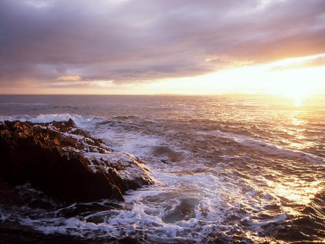 Atlantic Sunset, County Cork, Ireland Reproduction photographique