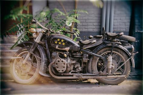 China 10MKm2 Collection - Instants Of Series - Motorcycle Five Stars Reproduction photographique