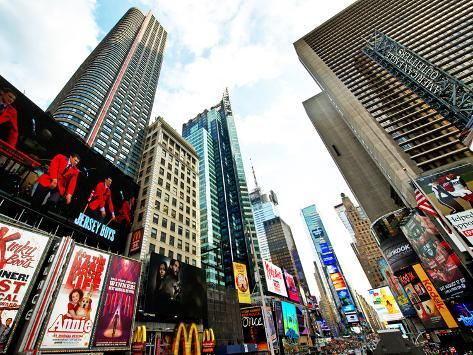 Cityscape of Times Square, Manhattan, New York City, United States, USA Reproduction photographique